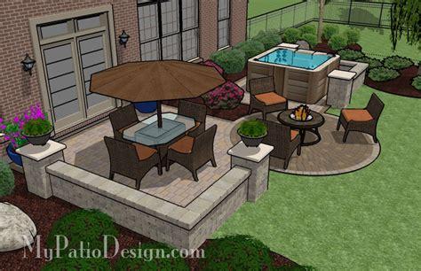 patio layout ideas hot tub patio tinkerturf