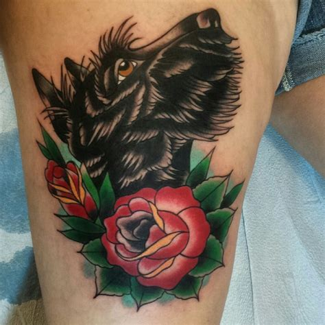scottish terrier tattoo design scottie blackcat pgh tattoos