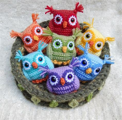 pattern crochet owl nesting rainbow owls cq crochet owls crochet owls