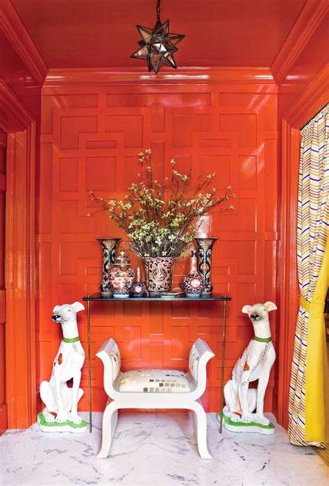 decorating  fretwork orange walls decor driven