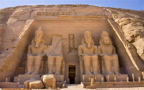 ancient architecture sculptures of ramesses ii at abu simbel the way of the