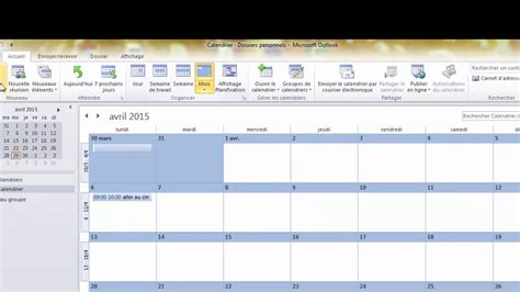 Calendrier Outlook 2010 Comment Partager Le Calendrier Outlook 2010