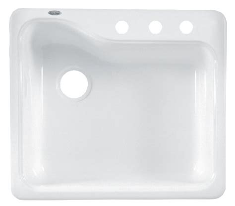 American Standard White Kitchen Sink American Standard 7172 803 208 Silhouette 25 Inch Americas Single Bowl Three Kitchen Sink