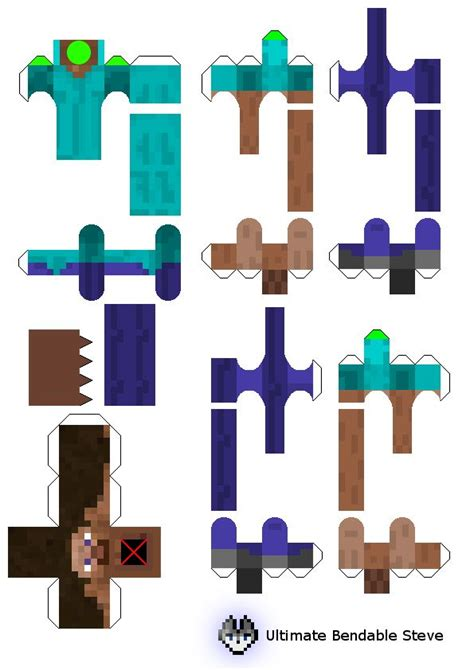 minecraft steve paper template 58 best images about papercraft on fnaf mike