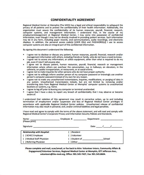 staff confidentiality agreement template staff confidentiality agreements confidentiality