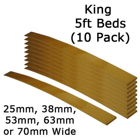 king bed slats replacement king size 5ft 25mm 38mm 53mm 63mm or 70mm