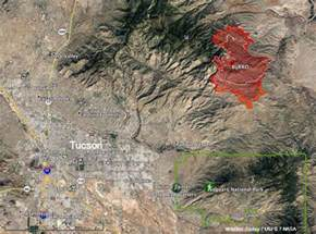 fires in arizona map burro near tucson grows to 19 000 acres