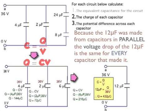 what is the charge on one capacitor a time after the switch has been closed finding the voltage and charge in a capacitor in a circuit