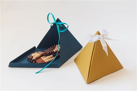 triangle pyramid gift boxes set of 3 custom handmade