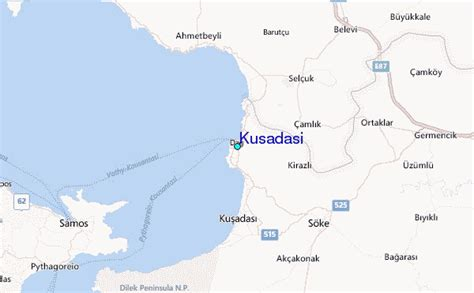 kusadasi map kusadasi tide station location guide
