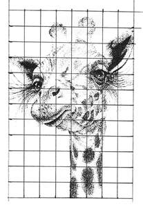 pointillism drawing grid method lesson
