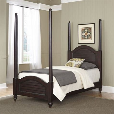 twin poster bed wood twin poster bed in espresso 5542 420