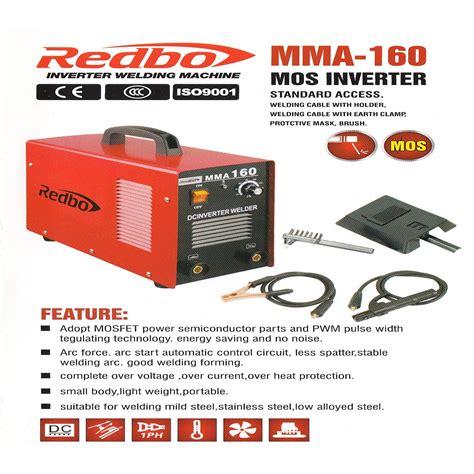 Mesin Las Mma 160 Redbo Dengan Kualitas Terbaik Dan Harga Murah harga jual redbo mma 160 mesin las 160a