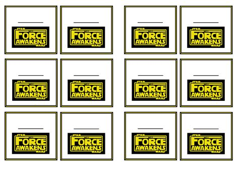 printable star tags star wars the force awakens name tags birthday printable