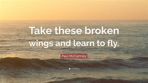 take these broken wings and learn to fly tattoo paul mccartney quote take these broken wings and learn