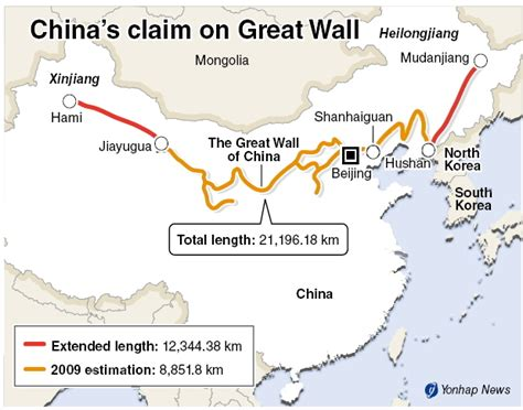 Buku Impor Great Wall China Against The World 1000 Bc Ad 2000 korean sentry forum view topic china s great wall keeps getting longer by year