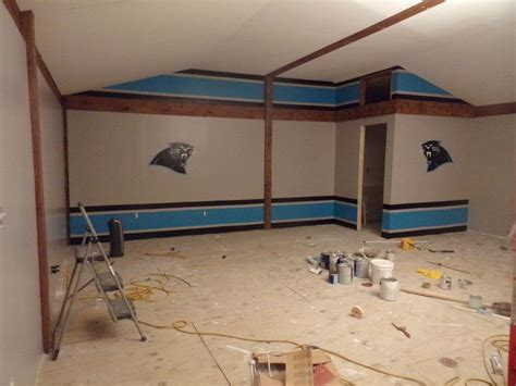 carolina panthers bedroom ideas carolina panther game room used painters tape to help get