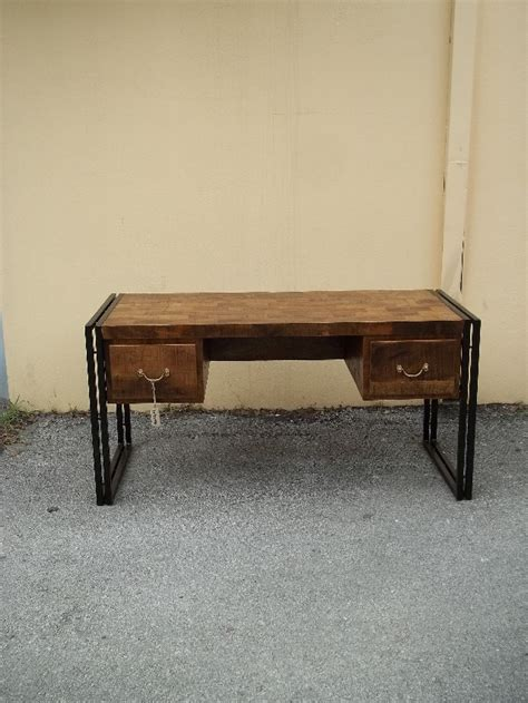 wood and iron desk iron and wood desk nadeau