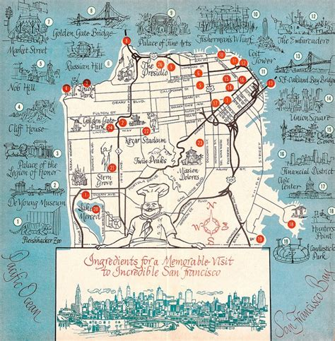 san francisco map tour 1963 san francisco tourist map graphics boards and text