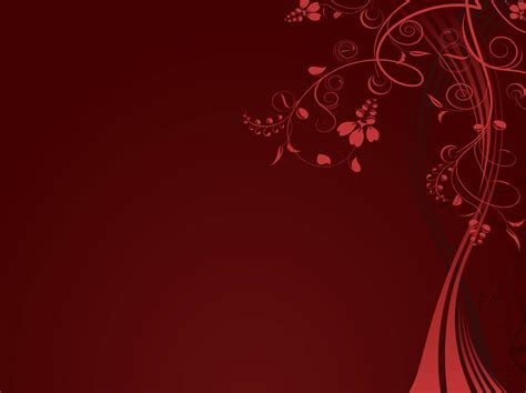 red floral background template free vectors ui download