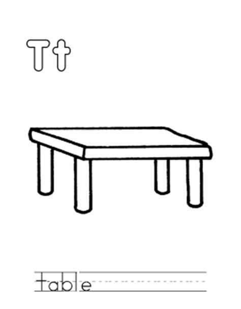 coloring table table coloring page az coloring pages