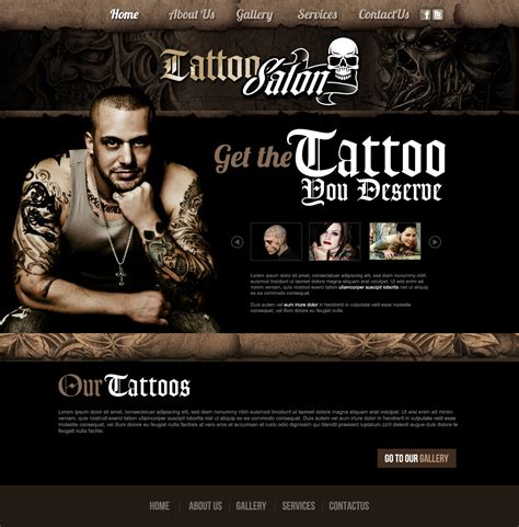 tattoo web design website designs