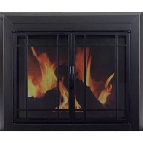 pleasant hearth easton large glass fireplace doors ea 5012