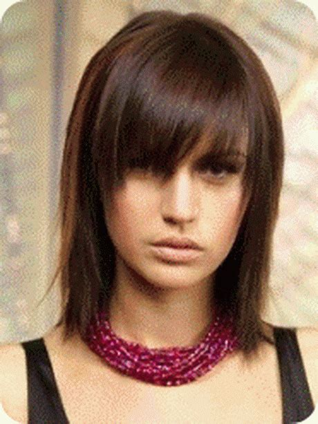 chop cut mid lenght choppy medium length hairstyles