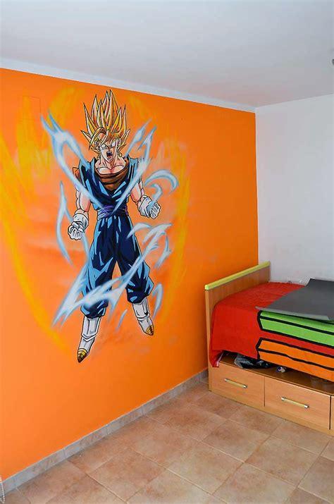 graffiti mural goku super saiyajin dios