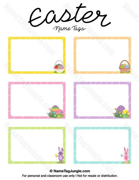 easter place card template free printable easter name tags the template can also be