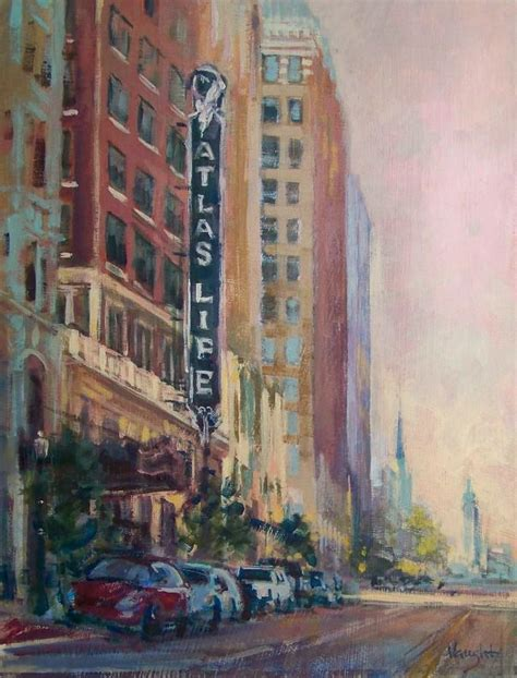 building painting tulsa architecture art deco captured in paintings brick