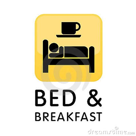 bed breakfast com bed and breakfast icon logo royalty free stock photos image 9876588