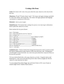 biography poem lesson plan poetry lesson plans for 4th grade 1000 ideas about