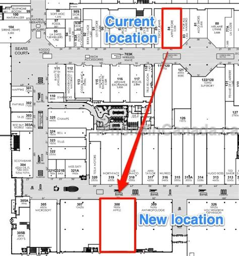 Yorkdale Mall Floor Plan | yorkdale apple store s newer and larger location revealed