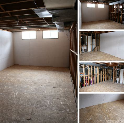 basement renovation dricore subfloor installation