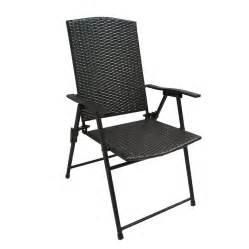 patio folding chairs shop garden treasures brown steel folding patio