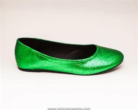 green flats shoes glitter green ballet flats slippers custom shoes