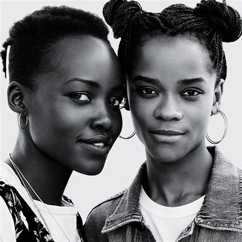 letitia wright instagram black women on instagram letitia wright and lupita nyong