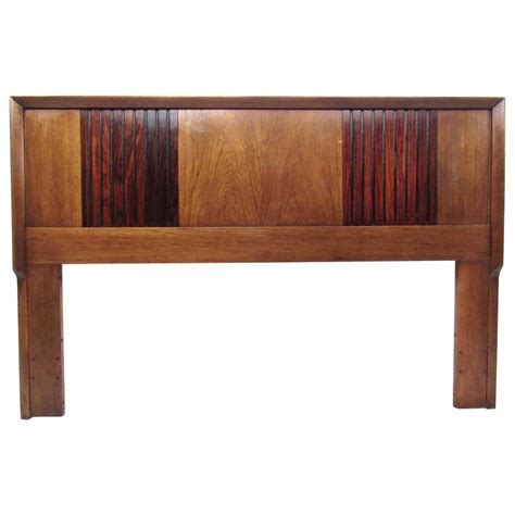 mid century headboard mid century modern rosewood and walnut queen size bed
