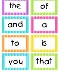 Printable Word Wall Template by Spotted In Grade Bright Stripes Word Wall Cards