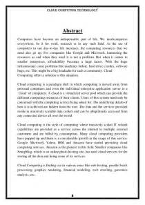 Cloud Computing Essays by Cloud Computing Research Paper Outline Writefiction581 Web Fc2