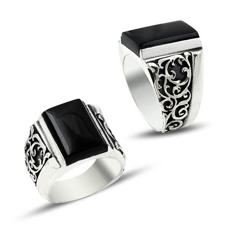 With Light For 7009 Black 43sogt charm handmade silver ring 7009 boutique ottoman jewelry store