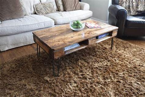 diy pallet table legs diy pallet skid coffee table with metal legs pallet furniture diy