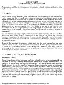 Essay On Writing by Essay Writing Guidelines Pdf