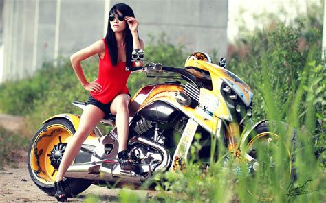 wallpaper girl with bike hot and sexy girls on stylish bike hd wallpaper images