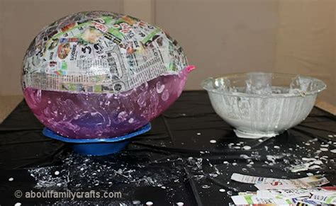 How To Make Paper Mache Without Glue - paper mache patchwork turtle about family crafts