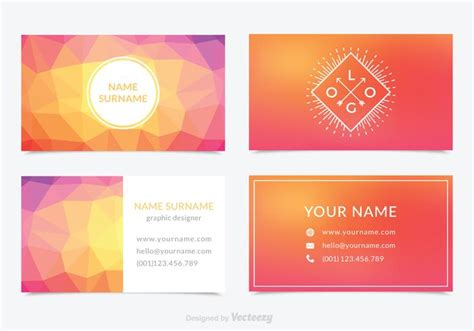 colorful business card templates free abstract colorful business card template vector set