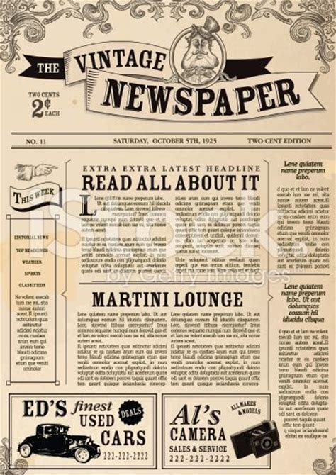 paper advertisement templates best 25 vintage newspaper ideas on chalkboard
