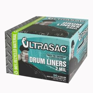 ultrasac 55 gal drum liner trash bags 50 count hmd