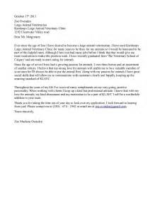 Cover Letter For Veterinarian by Cover Letter Klavc